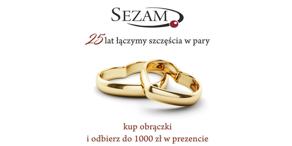 Jubiler Sezam: Do 1000 zł w prezencie przy zakupie obrączek