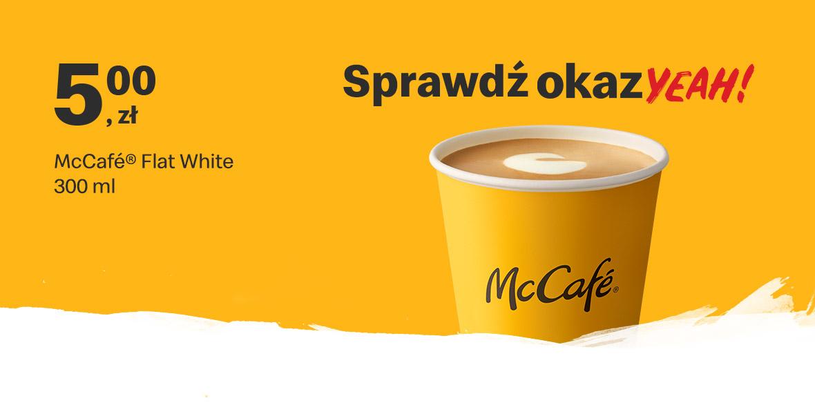 McDonald's: 5 zł McCafe® Flat White 300 ml 14.06.2021