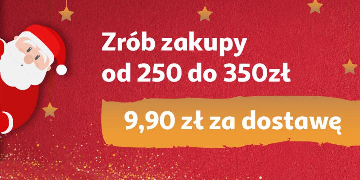 za dostawę przy zakupach od 250 zł do 350 zł