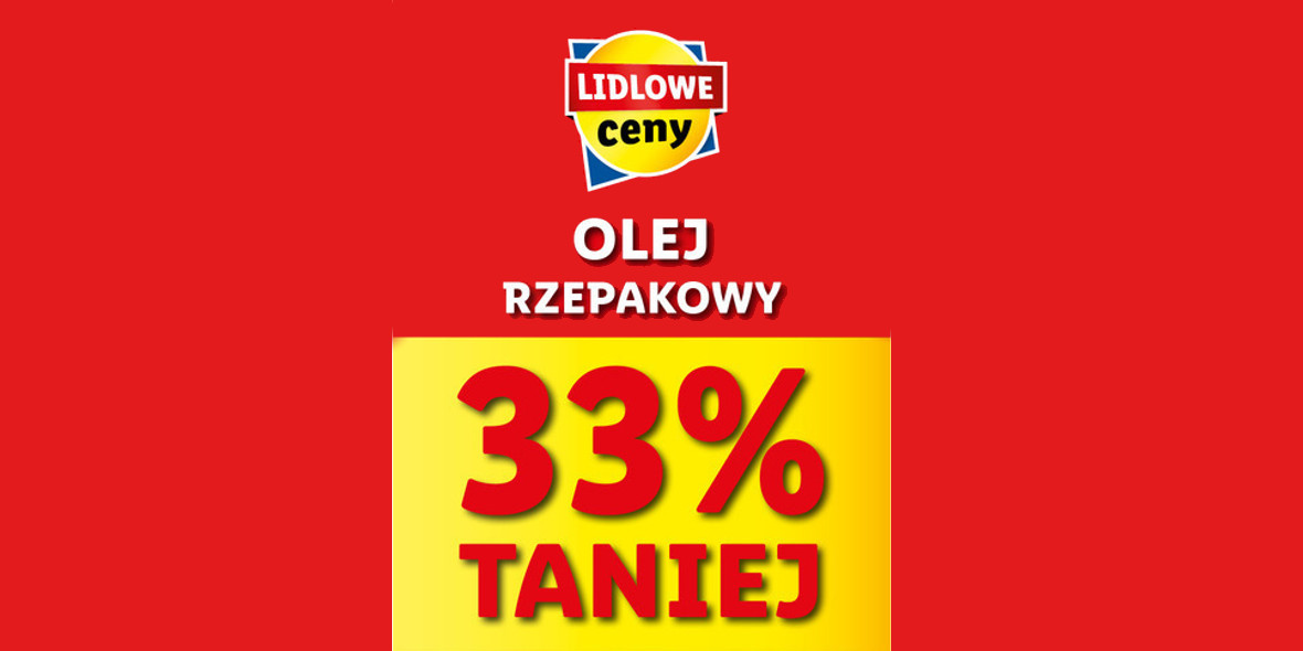 Lidl: -33% na Kujawski olej rzepakowy 19.04.2021