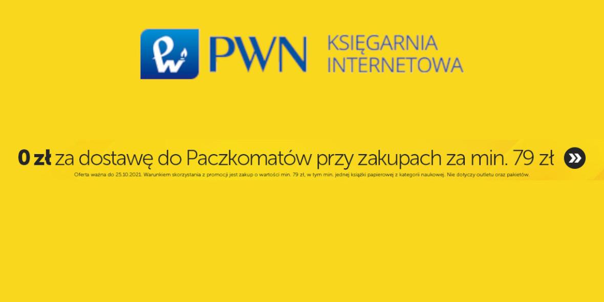 Księgarnia Internetowa PWN:  Darmowa dostawa w PWN 21.10.2021