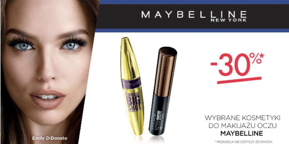 na wybrane kosmetyki do makijażu oczu Maybelline