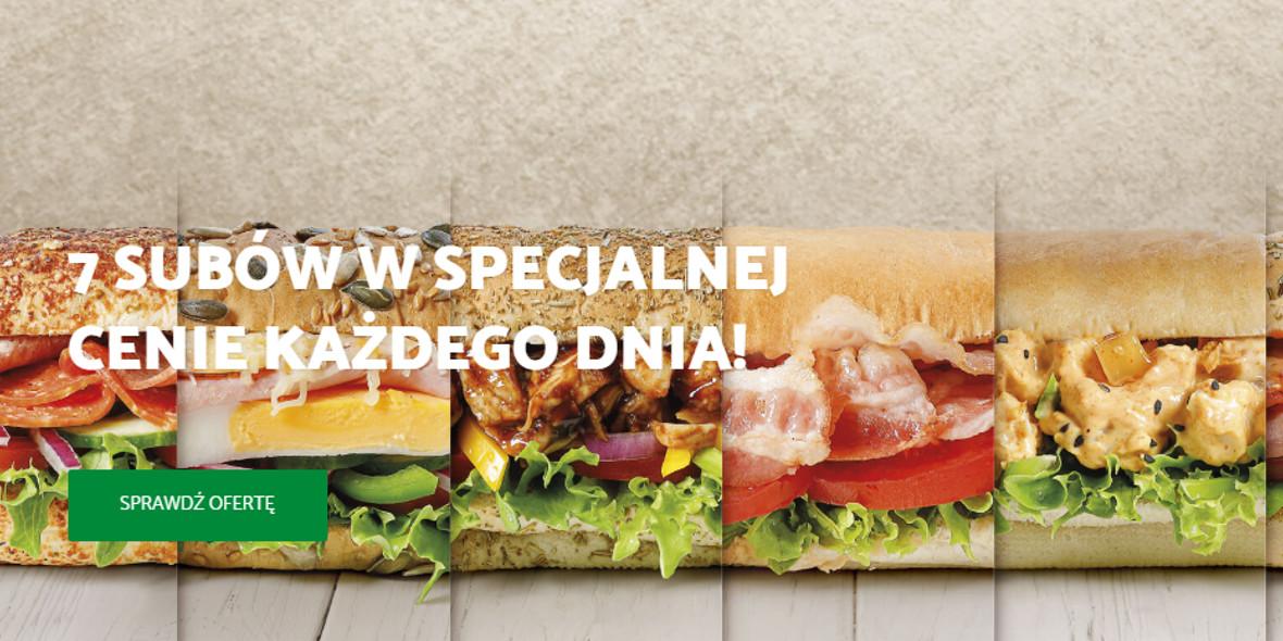 Subway:  7 subów w specjalnej cenie 21.01.2021