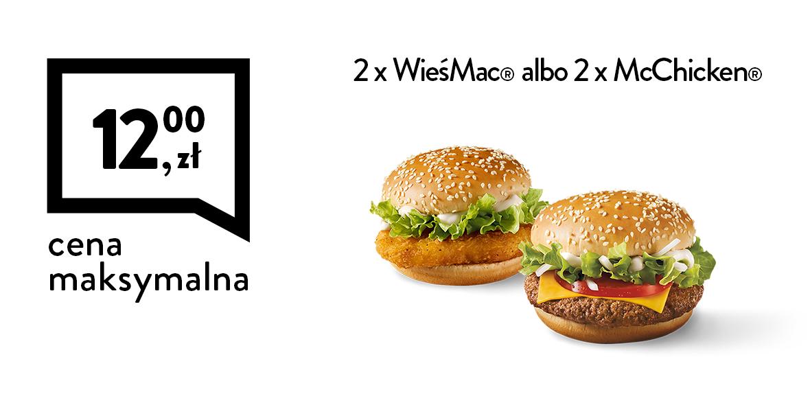 za 2 x McChicken® albo 2 x WieśMac®