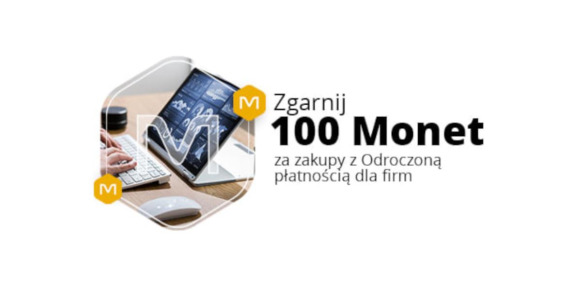 Allegro.pl: +100 Monet za zakupy z Odroczoną płatnością dla firm 19.04.2021