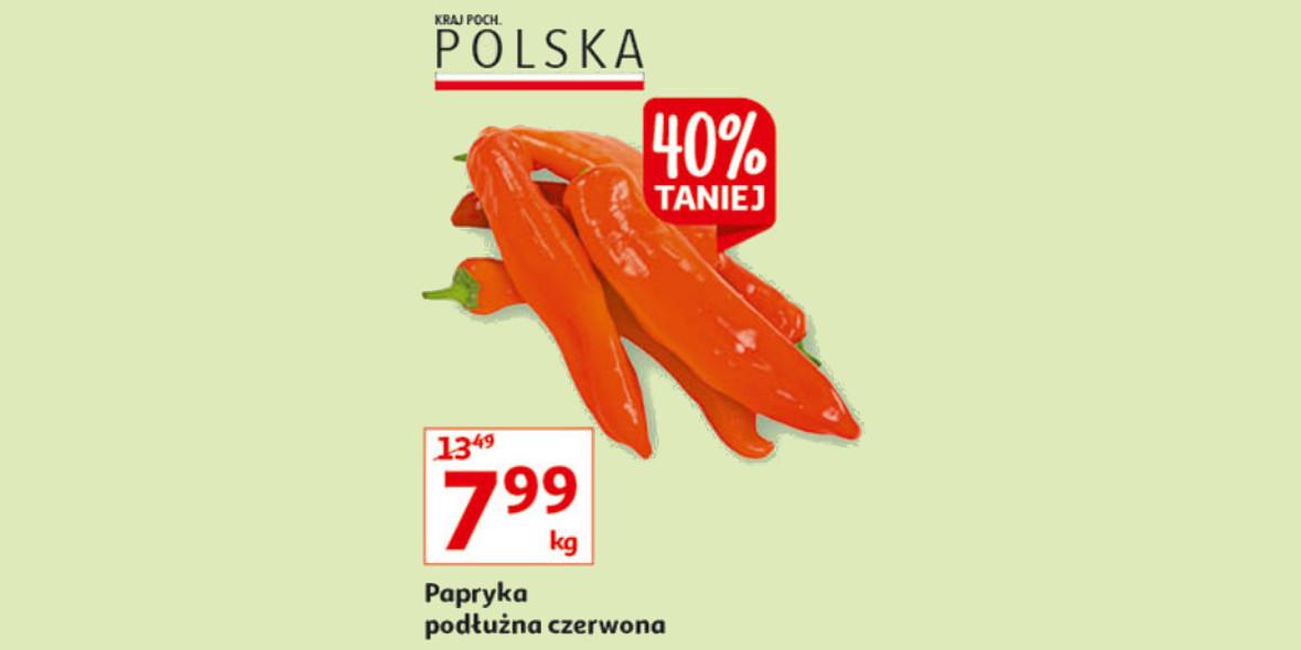 Auchan: -40% na paprykę podłużną czerwoną