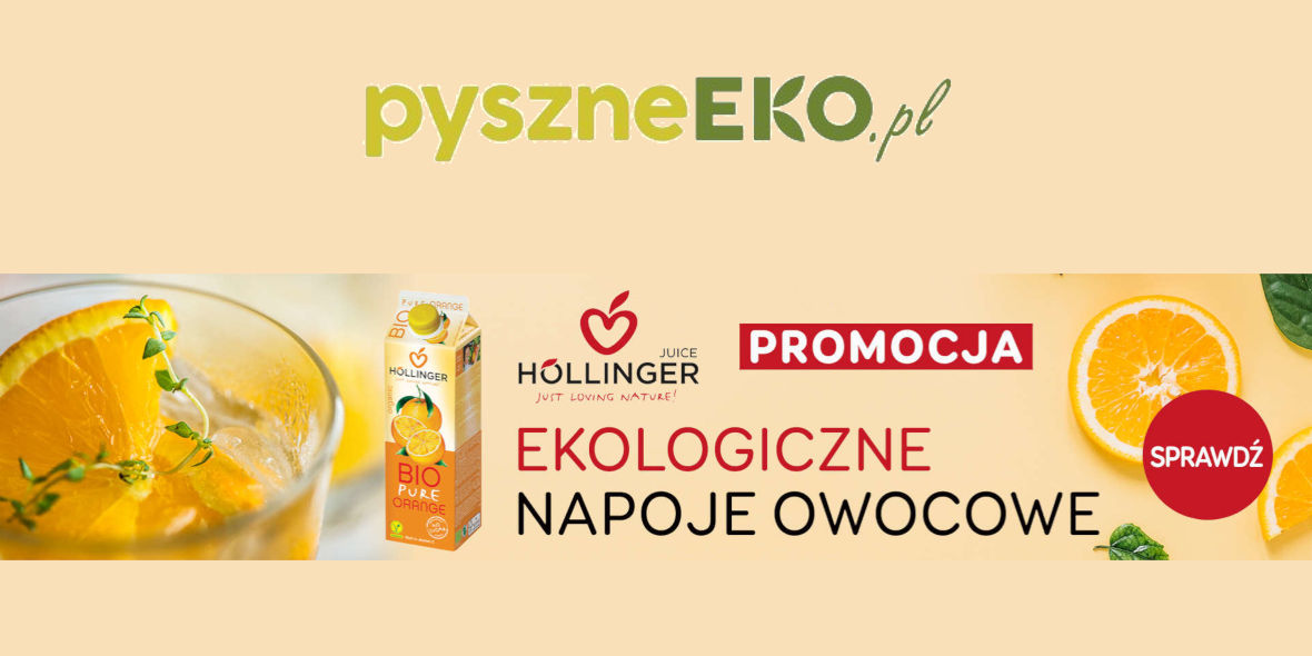 pyszneeko.pl: Do -22% na ekologiczne napoje owocowe 18.01.2021