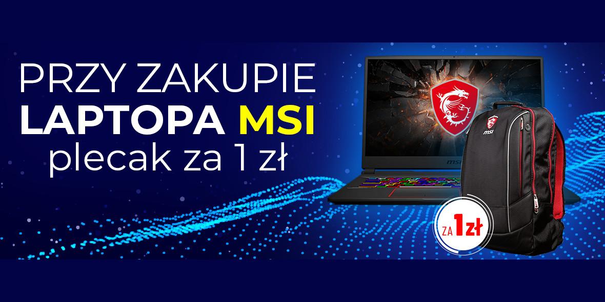 NEO24: 1 zł za plecak przy zakupie laptopa MSI 05.03.2021