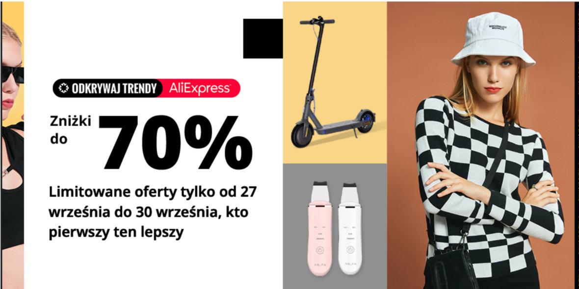 AliExpress: Kody do -6$ i zniżki do 70% 24.09.2021