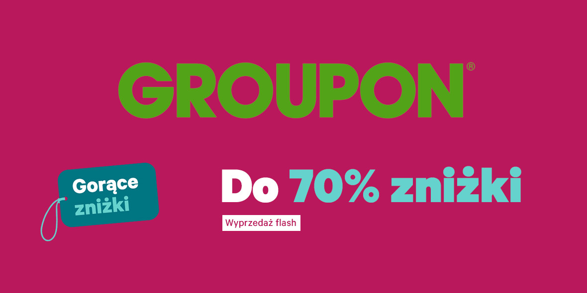 Groupon.pl: Do -70% na wybrane oferty Groupon 21.01.2021