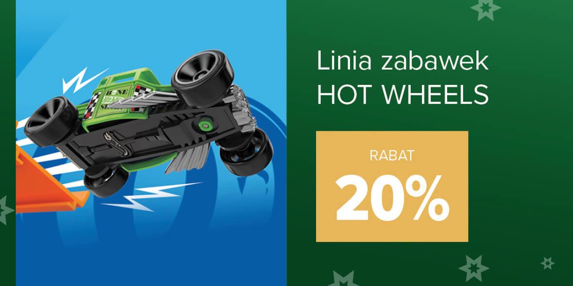 Carrefour: -20% na linię zabawek Hot Wheels 01.12.2020