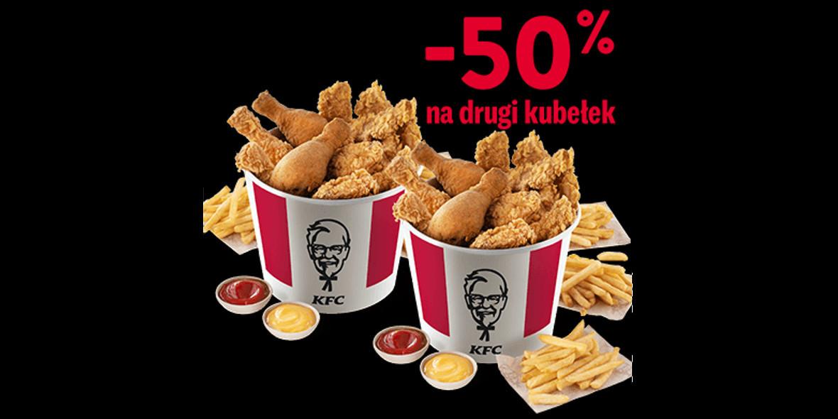 KFC: -50% na drugi kubełek w KFC 07.05.2021