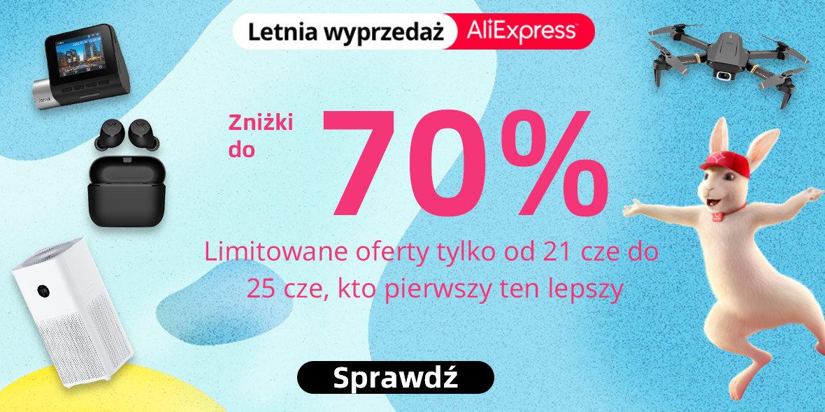 AliExpress: KODY do -20$ na letniej wyprzedaży do -70% 21.06.2021