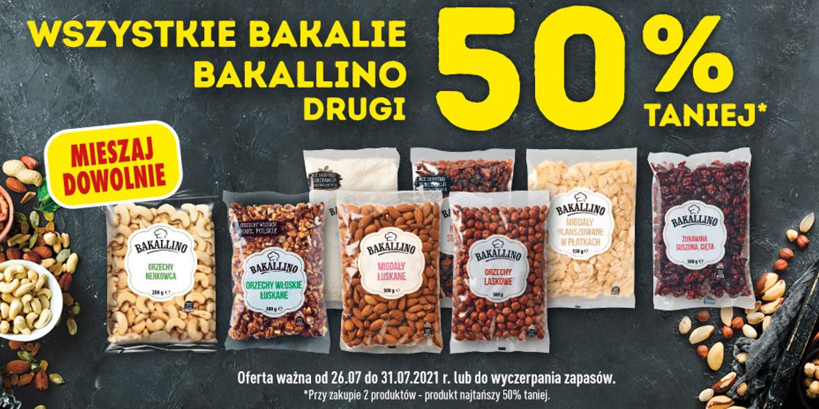 Biedronka:  -50% na drugie opakowanie Bakallino 28.07.2021