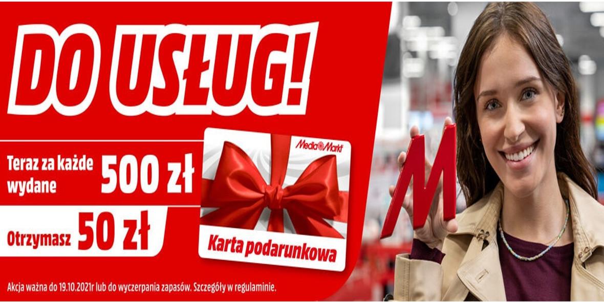 Media Markt: -50 zł za każde wydane 500 zł 11.10.2021