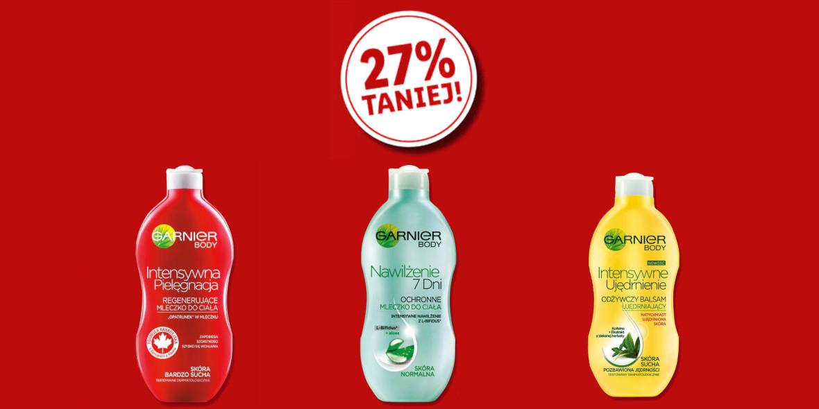 Lidl: -27% na mleczko lub balsam Garnier 04.03.2021