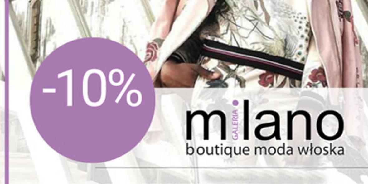 Galeria Milano: -10% na cały asortyment
