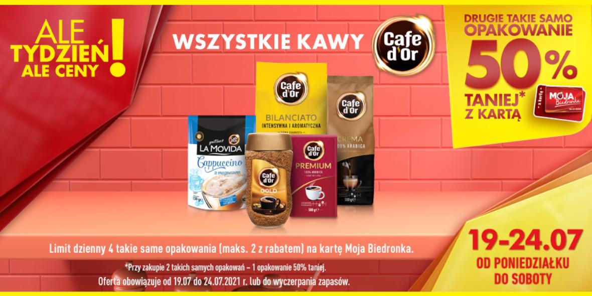 Biedronka: -50% na drugie opakowanie kawy 19.07.2021
