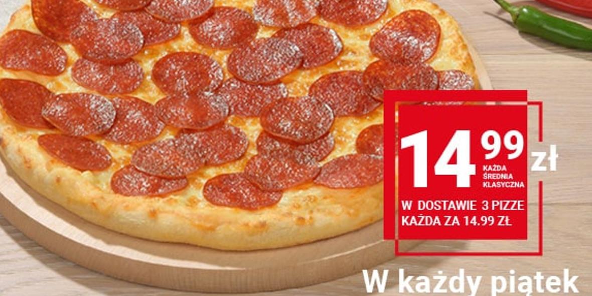 Telepizza: 14,99 zł za średnią pizzę