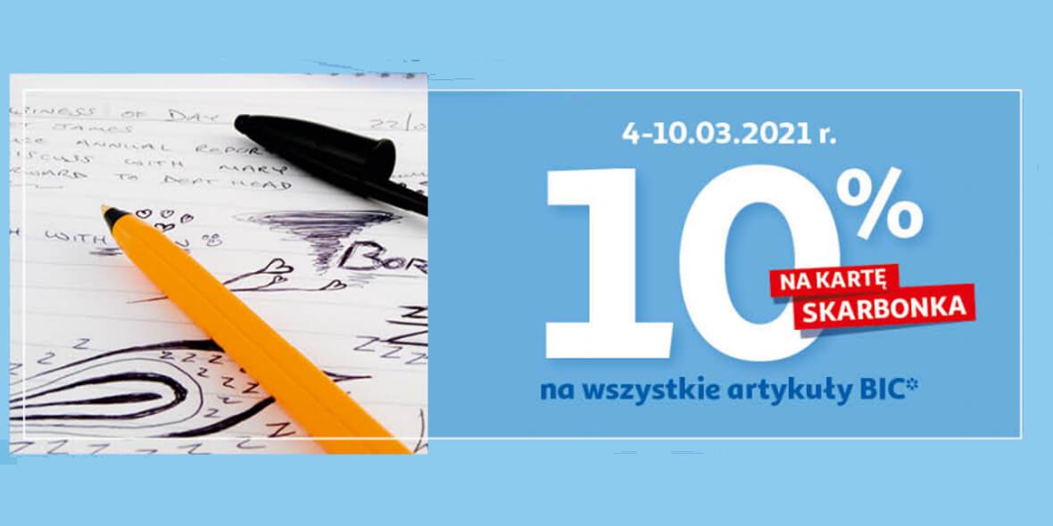 Auchan:  10% zwrotu na kartę Skarbonka na artykuły BIC 04.03.2021