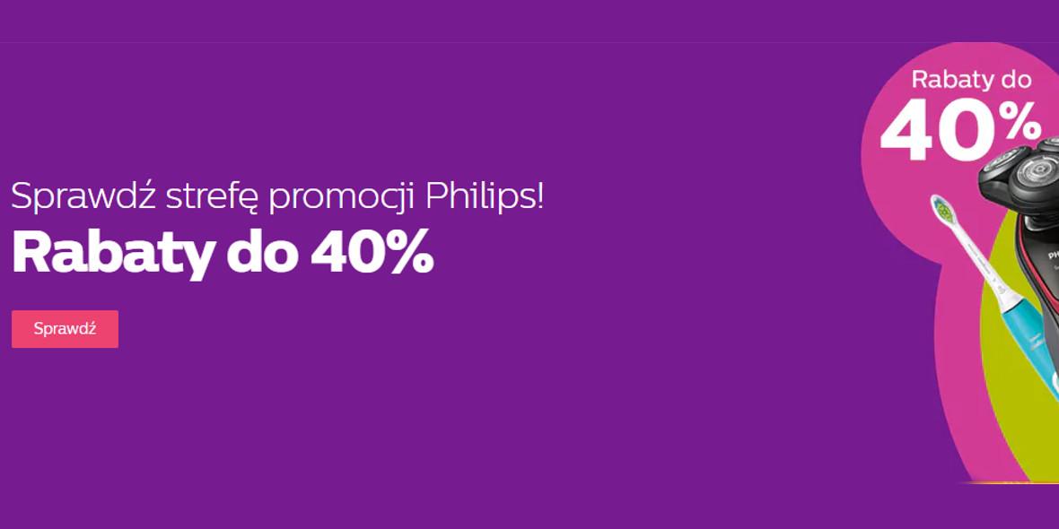 Philips: Do -40% na wybrane produkty