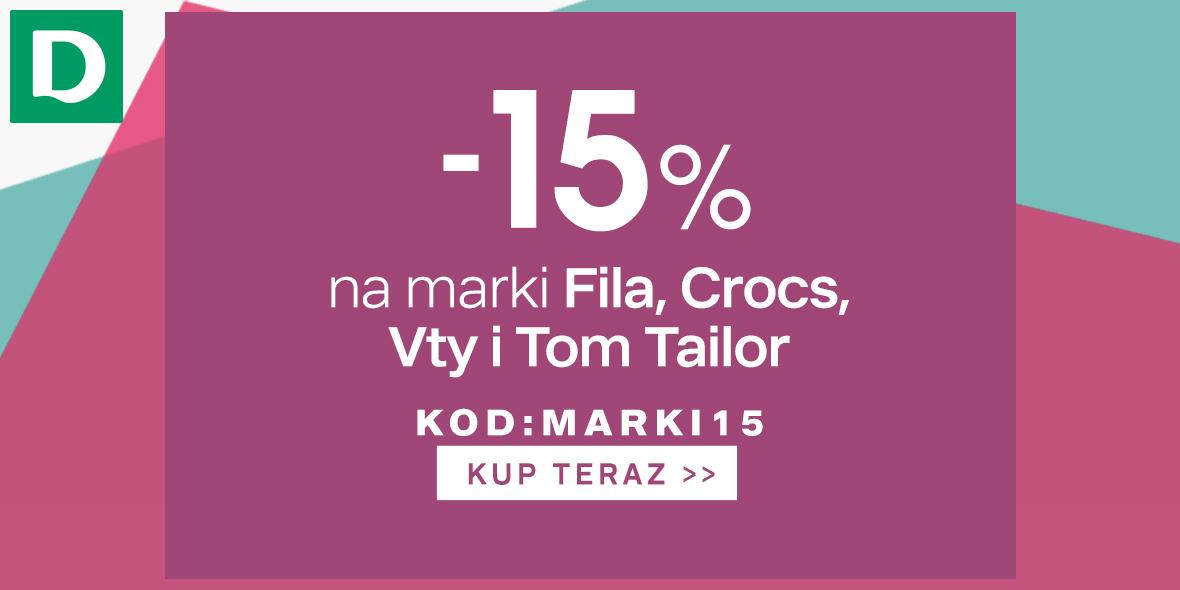 Deichmann: Kod: -15% na marki FILA, Crocs, Vty and Tom Tailor