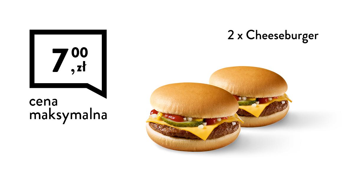 za 2 x Cheeseburger