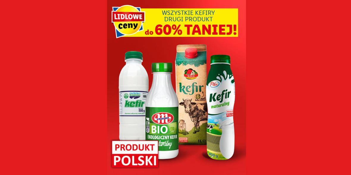 Lidl: Do -60% na wszystkie kefiry drugi produkt 19.04.2021