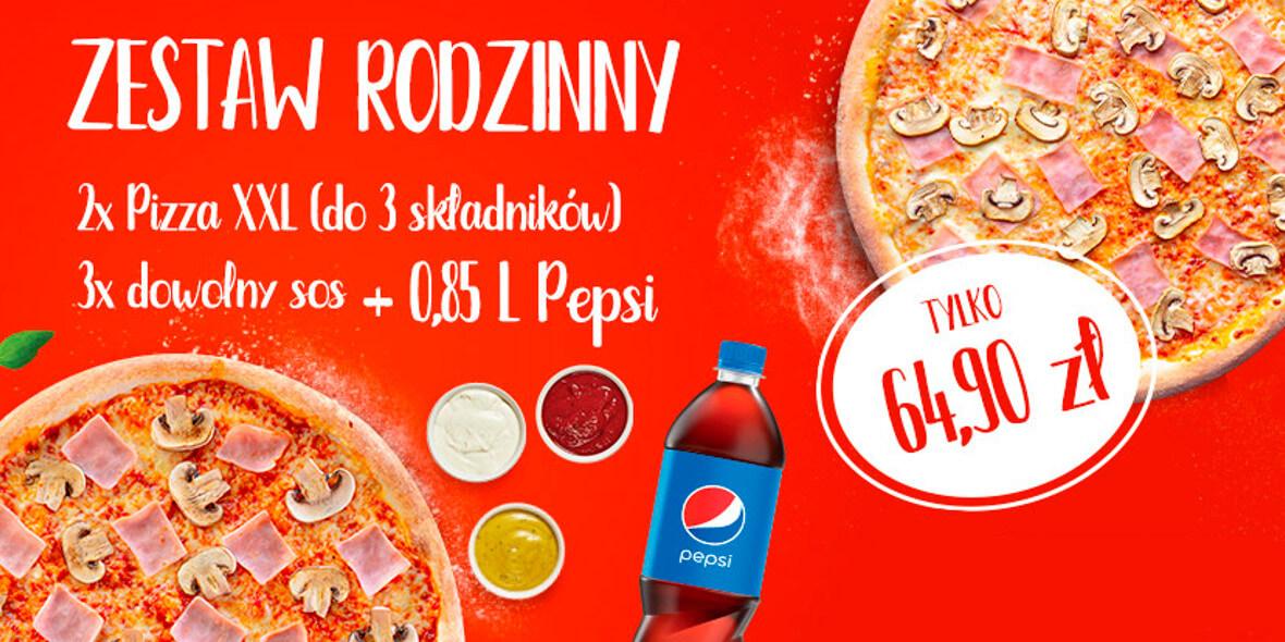 Pizza Dominium: 64,90 zł za zestaw rodzinny