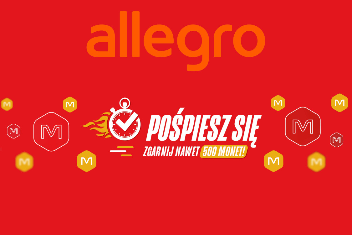 Allegro.pl: Nawet +500 Nawet +500 monet za zakupy produktów Samsung 19.01.2021