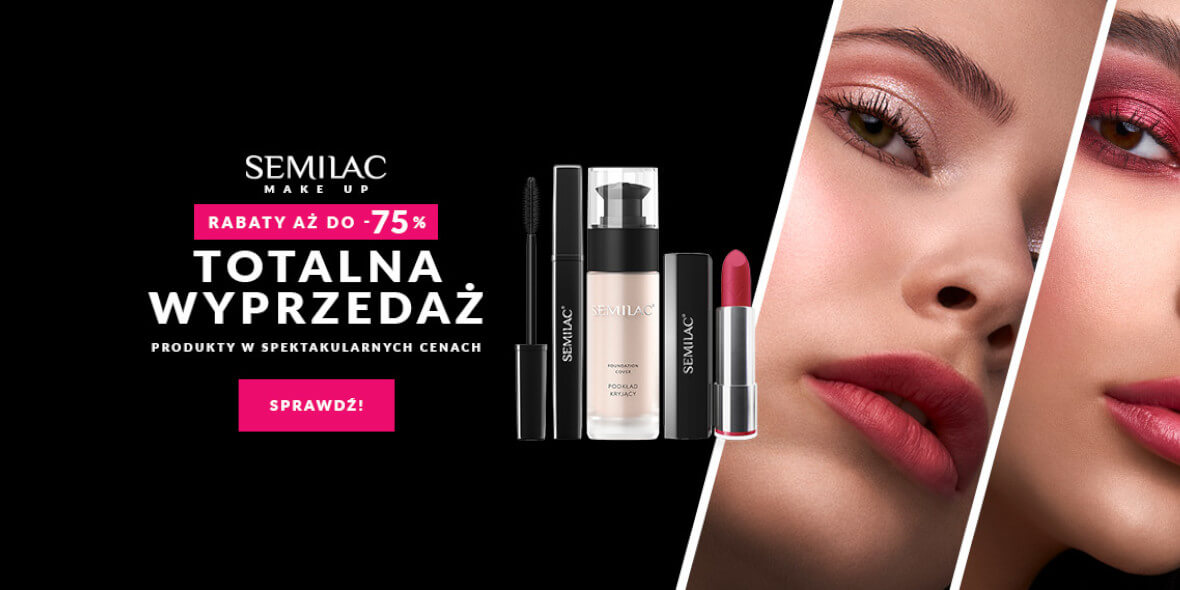 Semilac: Do -75% na make up
