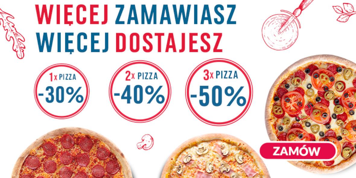 Pizza Dominium: Do -50% na wybrane pizze