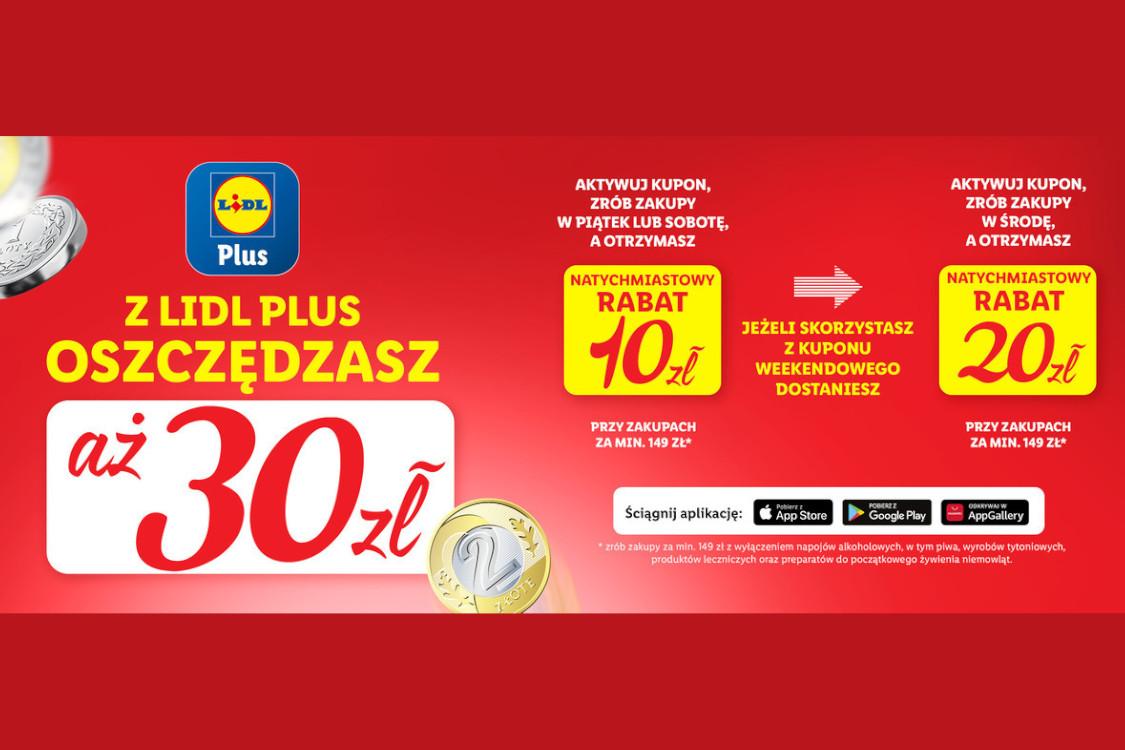 Lidl: Nawet -30 zł za zakupy w Lidlu
