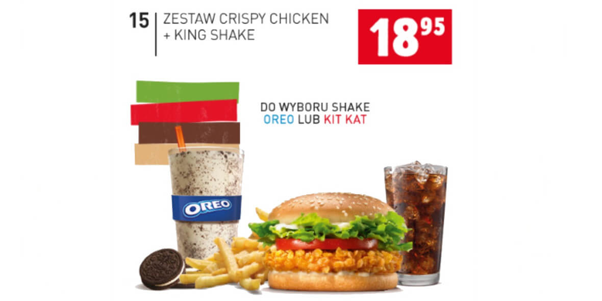 za zestaw Crispy Chicken + King Shake