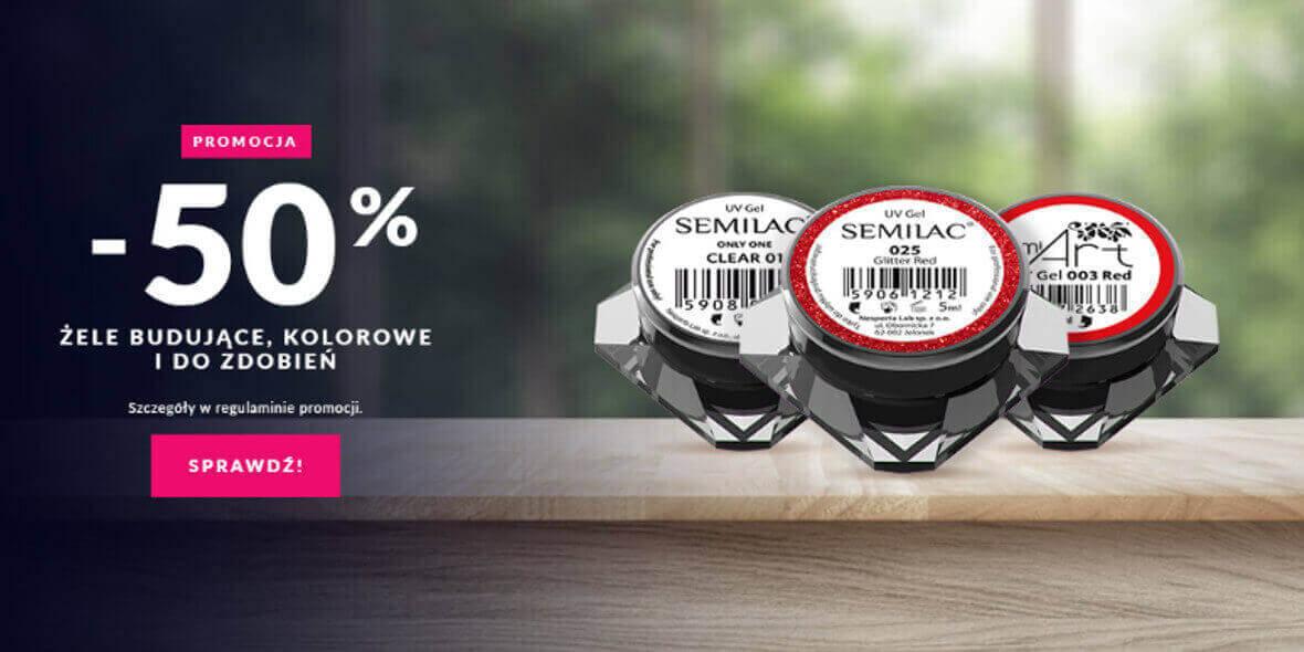 Semilac: -50% na żele budujące, kolorowe i do zdobień