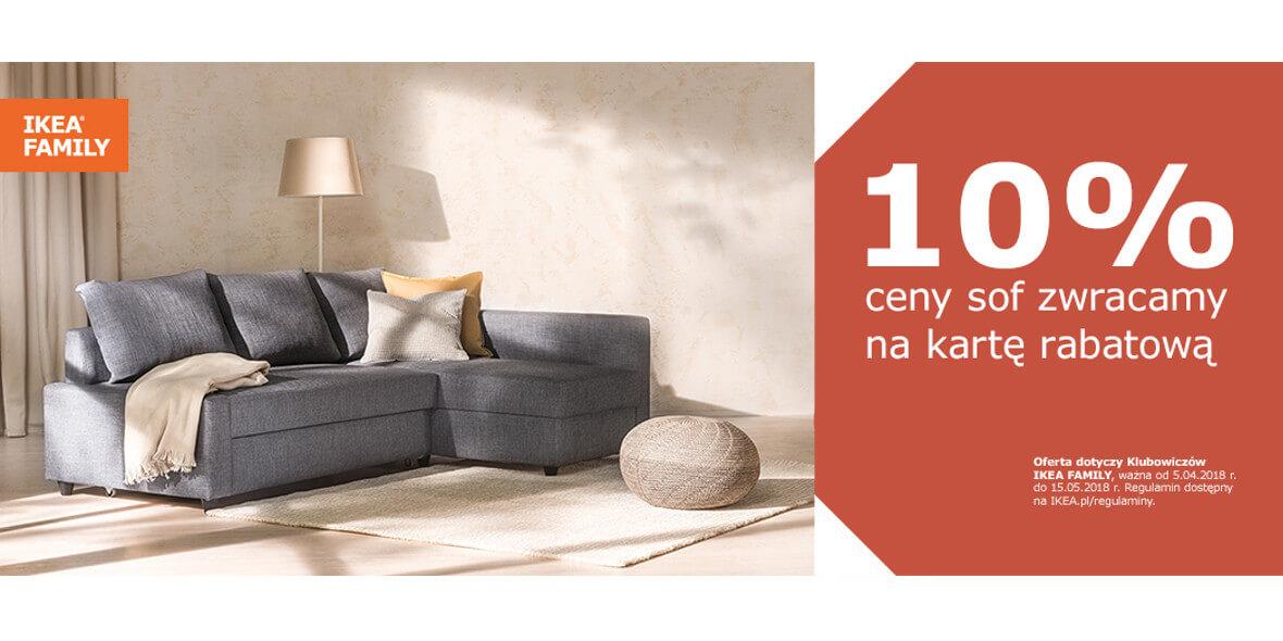 ceny sofy na kartę IKEA FAMILY