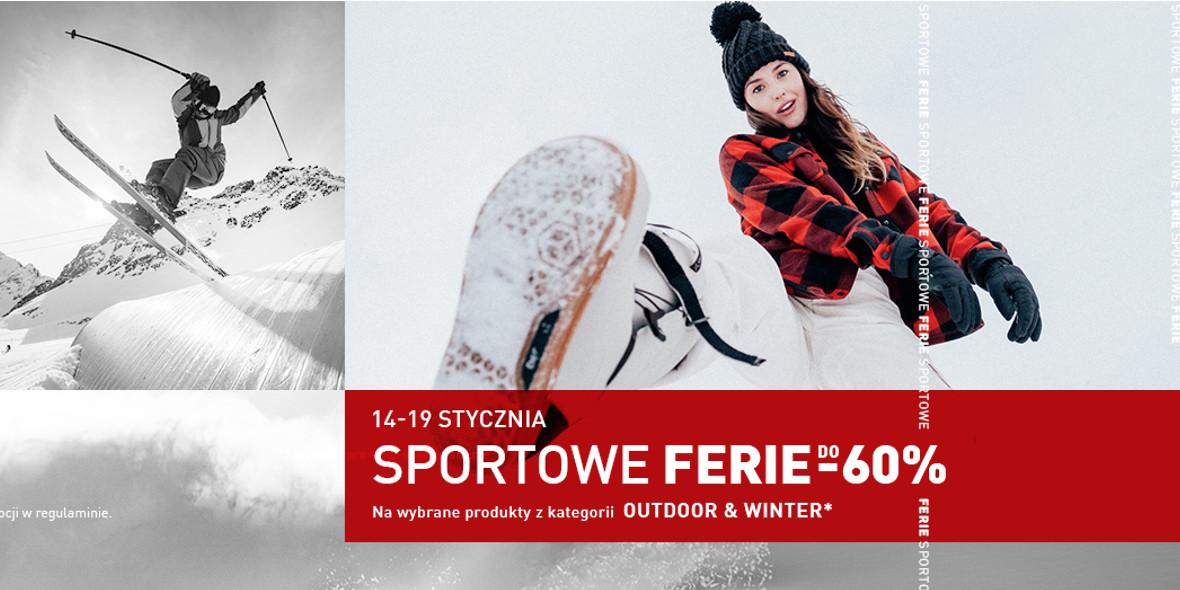 Intersport: Do -60% na sportowe ferie 14.01.2021