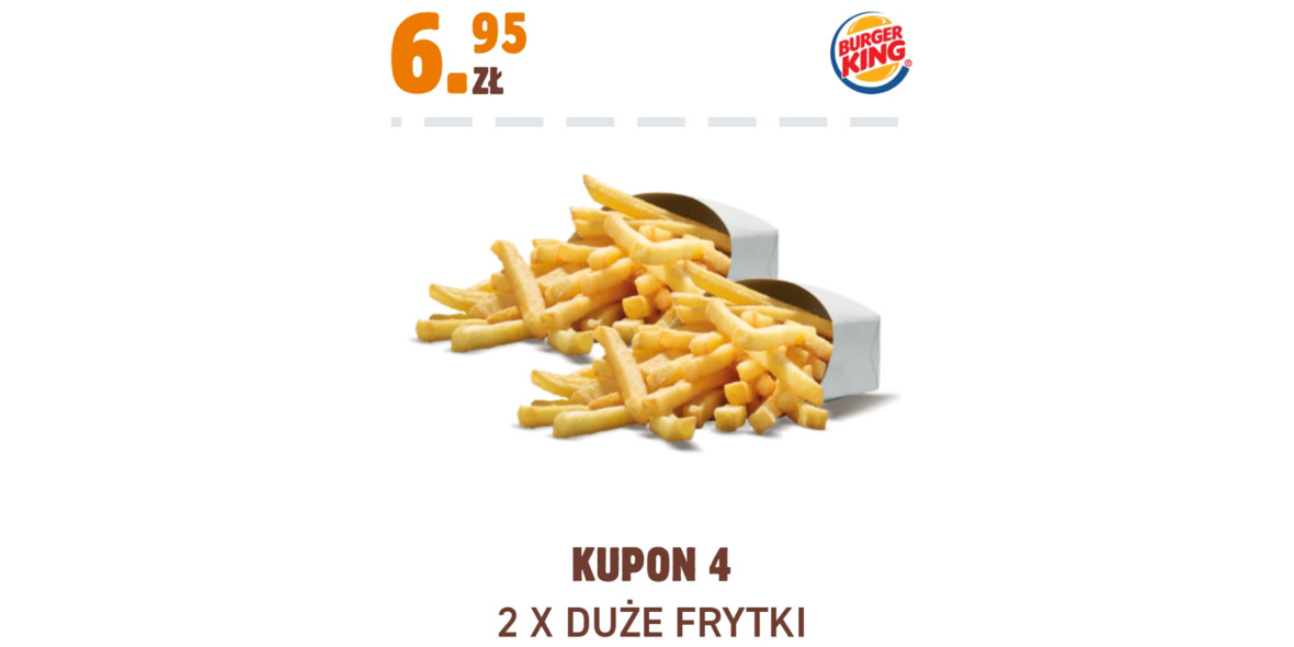 Burger King: 6,95 zł 2 x Duże Frytki 17.11.2020