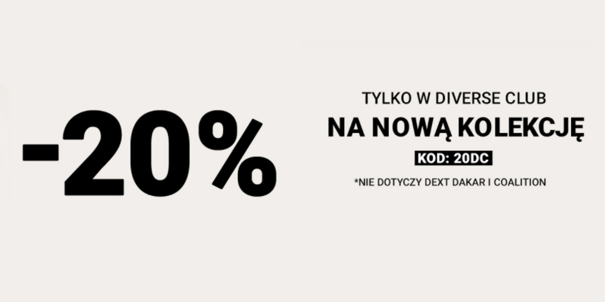 Diverse: Kod: -20% na nową kolekcję