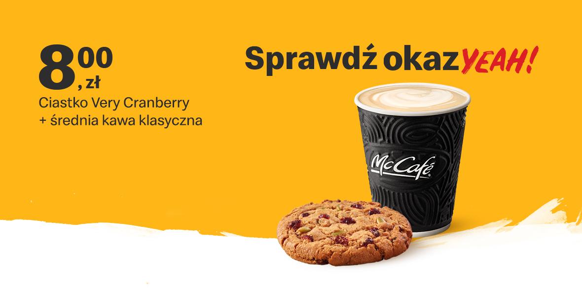 za McCafé® ciastko Very Cranberry + kawa 300 ml