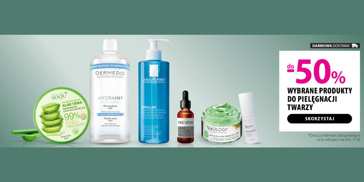 hebe: Do -50% na wybrane produkty do pielęgnacji twarzy 08.04.2021