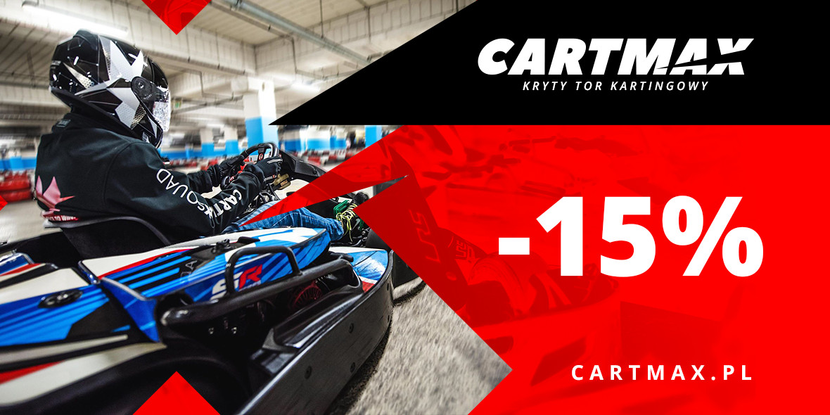 Cartmax: -15% na przejazd gokartem 13.09.2018