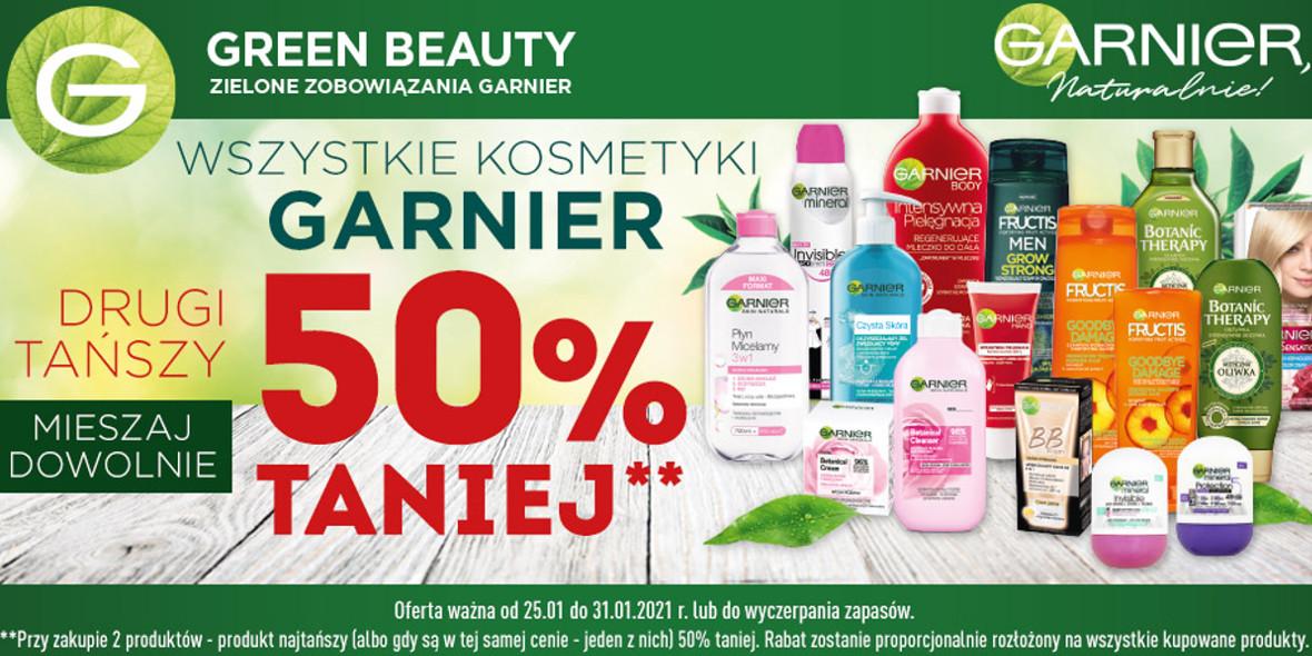 Biedronka:  -50% na drugi kosmetyk Garnier 25.01.2021