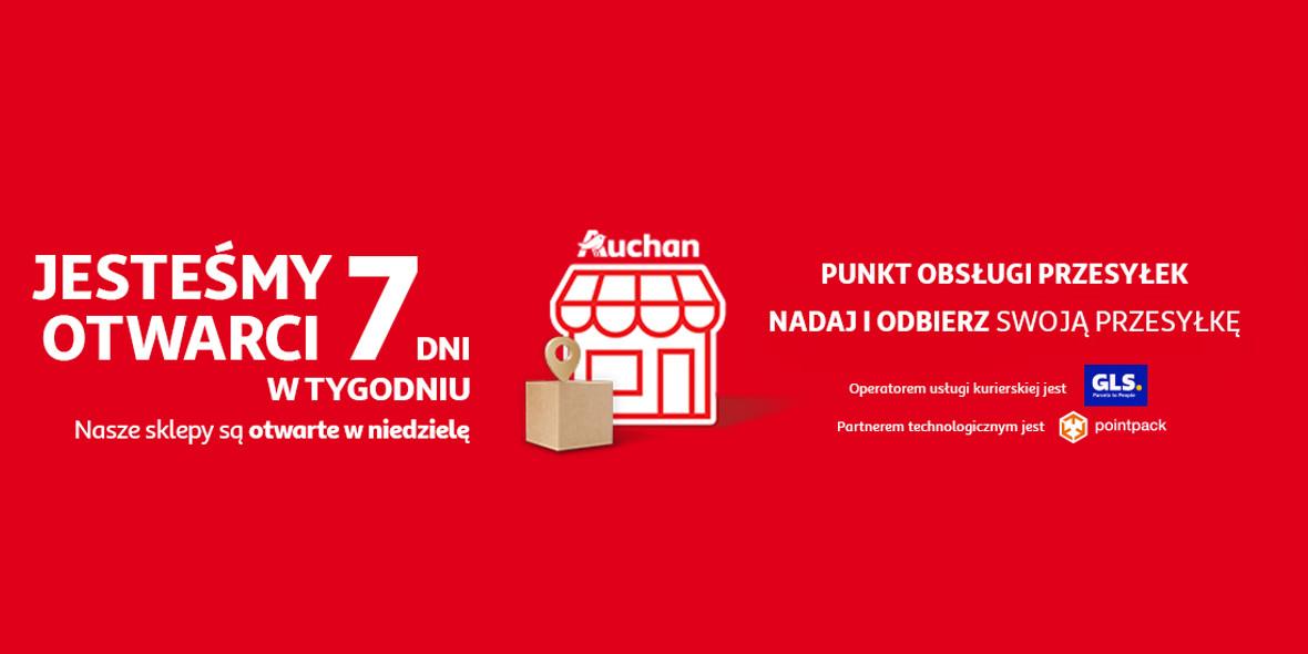 Auchan:  Sklepy OTWARTE w niedzielę 17.10.2021