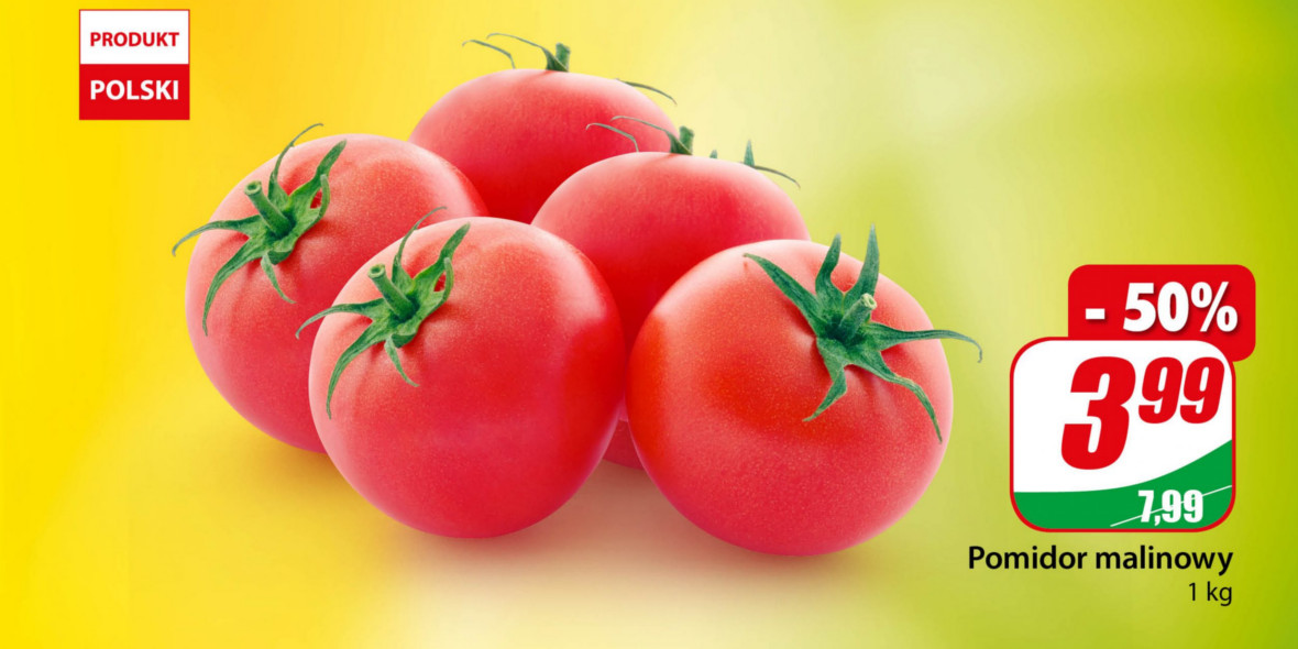 Dino: -50% na pomidory malinowe 22.06.2021