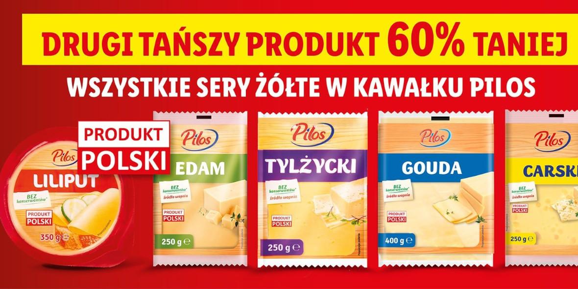 Lidl: -60% na drugie opakowanie sera żółtego 05.08.2021