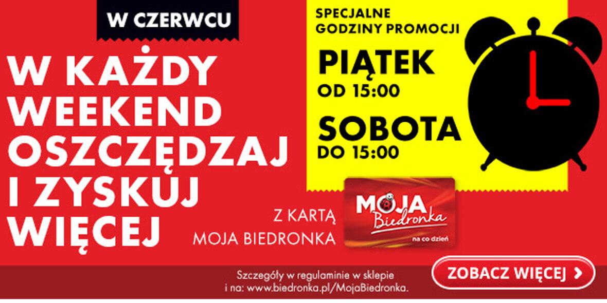 Biedronka:  -25 zł  na voucher z kartą Moja Biedronka 04.06.2021