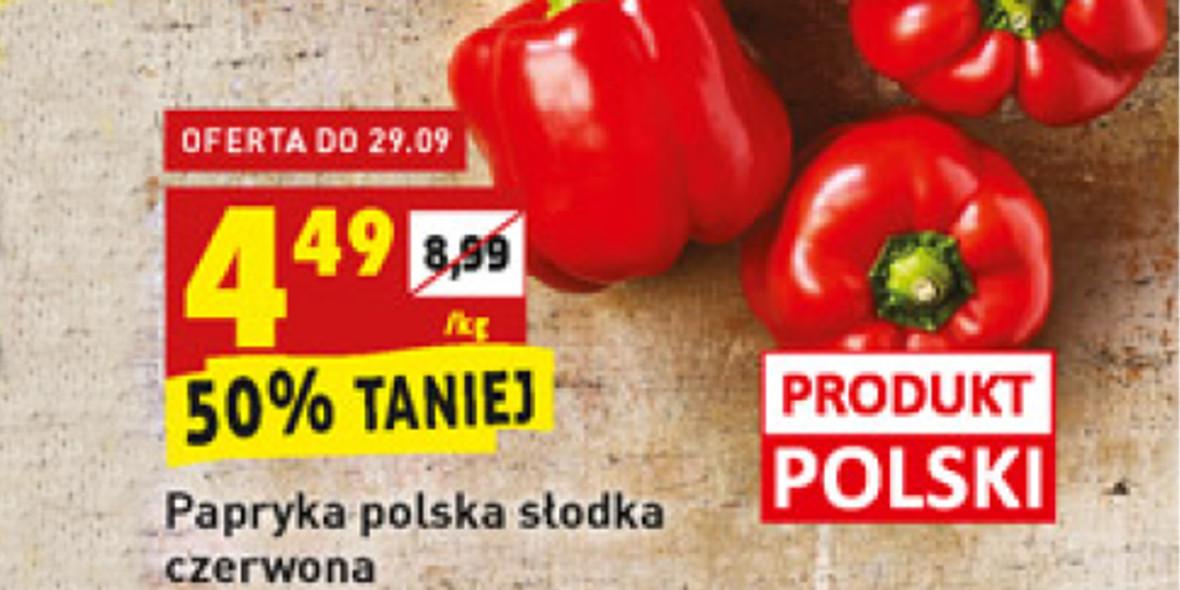 Biedronka: -50% na paprykę polską czerwoną 27.09.2021
