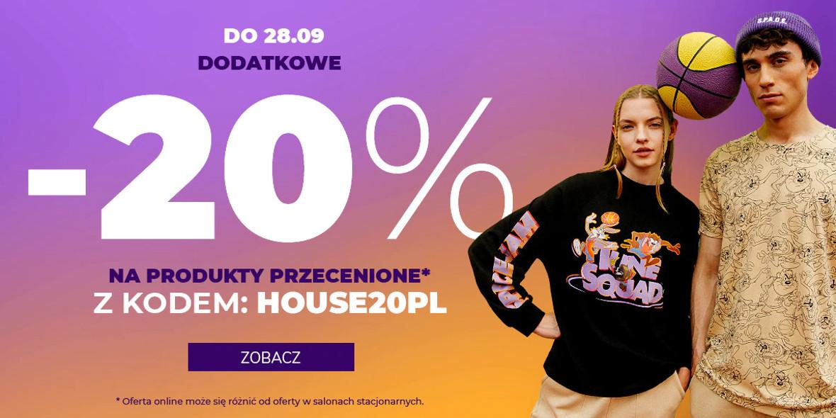 House: Kod: -20% na produkty przecenione 25.09.2021