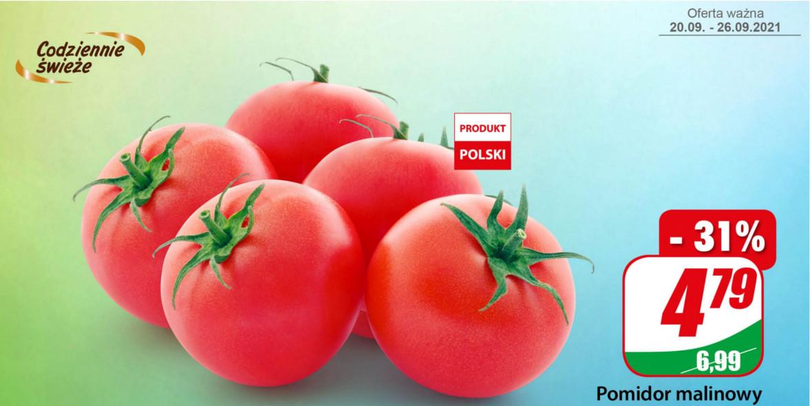 Dino: -31% na pomidory malinowe 20.09.2021